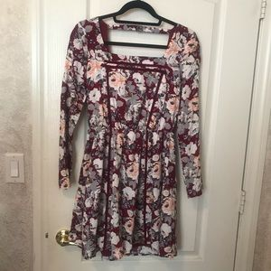 EUC floral Doe & Rae dress from ModCloth Small